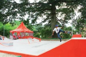 BARU: Arena skatepark yang baru saja dibangun, menjadi salah satu tujuan wisata di Kota Hujan.