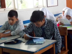 UN : Dinas Pendidikan Kota Bekasi memastikan tidak ada peserta UN di Lembaga Pemasyarakatan. DOK/RADAR BEKASI