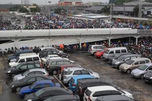 BODONG: Parkir bertingkat di Stasiun Bogor sudah beroperasi meski belum mengantongi izin.