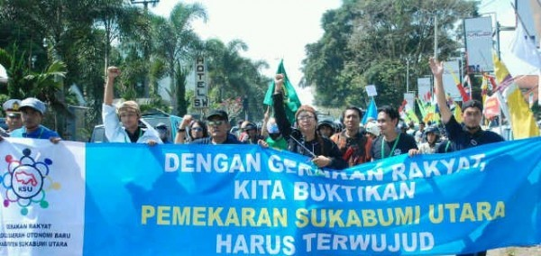 Warga Kabupaten Sukabumi saat gelar deklarasi percepatan pemekaran beberapa waktu lalu.