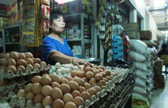 Ilustrasi Pedagang telur ayam.