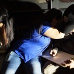 TUTUP MUKA: Sebanyak 40 pasangan mesum yang terjaring razia mendapatkan arahan di Kantor Dinsosnakertrans Kota Sukabumi.