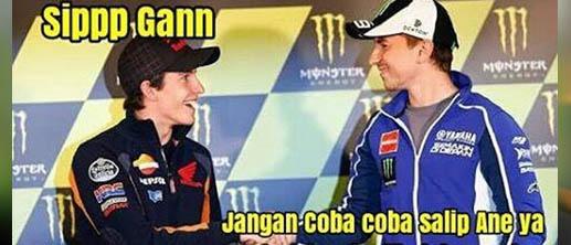 Meme 'konspirasi' Marquez dan Lorenzo.