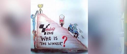 Meme 'konspirasi' pebalap Spanyol untuk jegal Rossi.