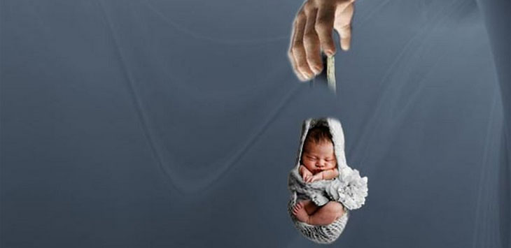 Ilustrasi Pembuangan Bayi.