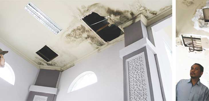 Kebocoran Masjid Raya Bogor yang Terus Mendapat Sorotan.