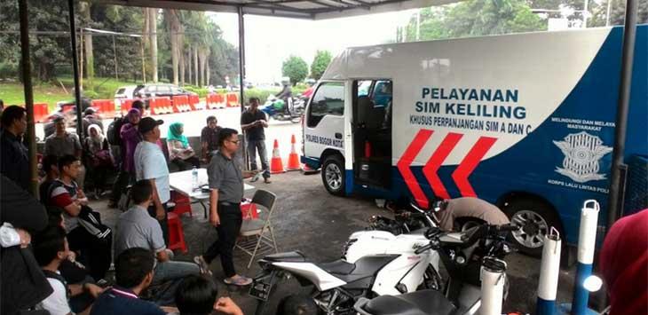 Ilustrasi SIM Keliling Bogor.