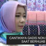 AGGUN : Isabel, gadis non muslim ini menyukai busana hijab dan menyarankan kaum muslimah berhijab.
