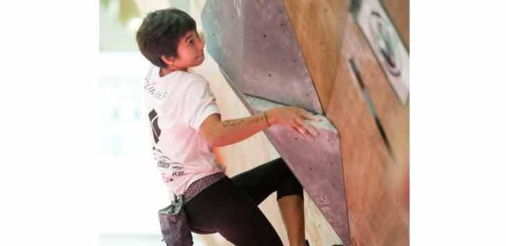 Salah satu Atlet FPTI Kota Bekasi saat menjalani latihan bersama tim Pelatda PON Jabar .