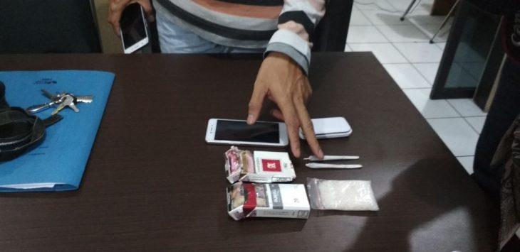Polisi ringkus pengguna narkoba jenis Sabu, Selasa (11/10/2017)