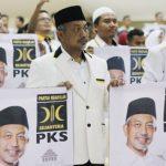 KOMPAK: Para kader PKS Kabupaten Bogor saat memberikan dukungan pada Ahmad Syaikhu, pekan lalu.