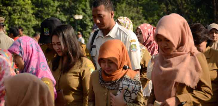 Aktivitas Pegawai Negeri Sipil dan Tenaga Kerja Kontrak di lingkungan Pemerintah Kota Bekasi. Foto Raiza Septianto/Radar Bekasi
