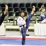 WAKILI INDONESIA: Dua atlet taekwondo Kota Bogor, Maulana Haidar dan Devia Rosmaniar, saat berlaga di kejuaraan. Ist