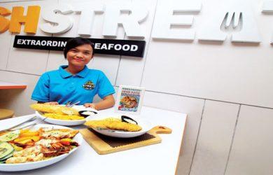 LEZAT: Tampak terlihat beberapa menu favorit di Fish Streat yang berada di kawasan Jalan Juanda, rabu (17/1/18). Ahmad Fachry/Radar Depok
