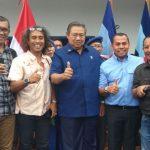 SBY Berfoto Bersama Setelah Sampaikan Pernyataan Politik Awal Tahun 2018 di Kabupaten Cibinong./Foto: Unang