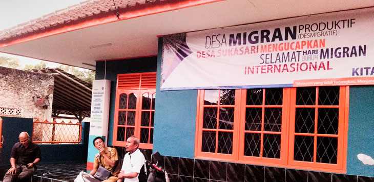 SARANA TKI: Pemdes Sukasari sudah memiliki rumah desmigratif, atau program desa migran produktif.