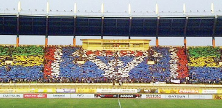 TERPILIH LAGI: Stadion SI Jalak Harupat kembali terpilih menjadi kandidat kandang Persib untuk mengarungi Piala Presiden 2018. Net