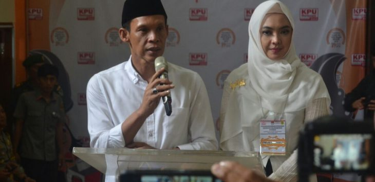 Pasangan Cabup Bogor Jaro Ade dan Cawabup Inggrid Kansil