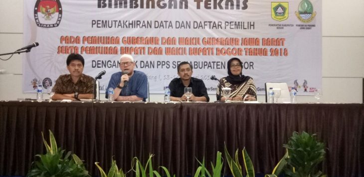 KPUD Bogor mempersiapkan serangkaian agenda terkait pemilihan Pilkada Bogor.