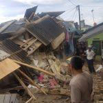 Dampak dari gempa berkekuatan 6,1 SR yang berpusat di Lebak-Banten Rumah membuat sejumlah rumah di Kabupaten Bogor hancur.