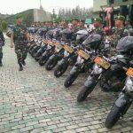 Komandan Kodim 0509/Kabupaten Bekasi mengecek pasukan.Istimewa