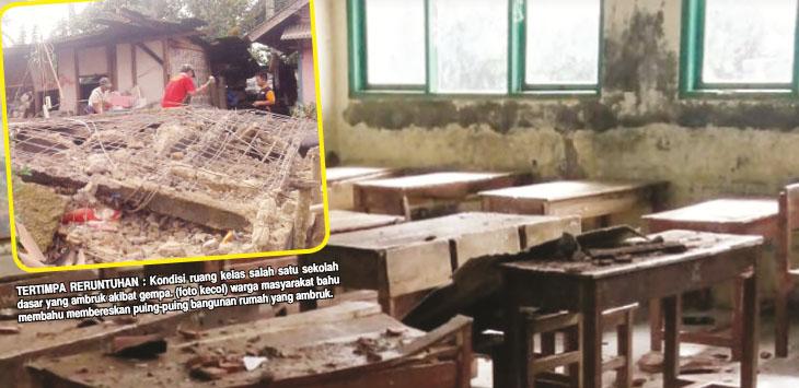 Kerusakan akibat gempa di Lebak-Banten