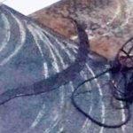 PLAT BAJA: Barang bukti berupa plat baja berukuran 1x2 meter dua lembar dan satu buah senjata tajam. Ist