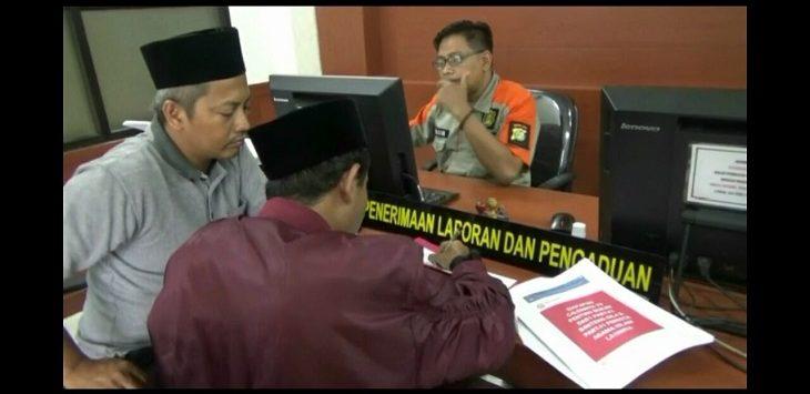 Pengurus DPC BMI Kabupaten Bekasi saat membuat laporan ujaran kebencian di Polres Metro Bekasi.Enriko/Pojokjabar