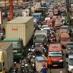 Suasana macet di Jalan Raya RE Martadinata, Cikarang Utara, Kabupaten Bekasi.Dokumentasi Radar Bekasi