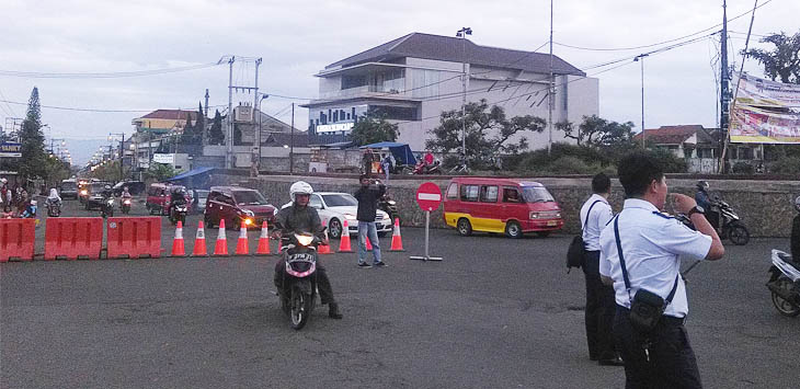 Perubahan jalur di Cianjur