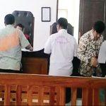 SIDAN G: Suasana sidang SSA di Pengadilan Negeri Kelas 1B Kota Depok. Ade/Radar Depok
