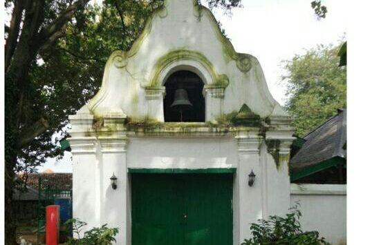 Lonceng Gajah Mungkur Kesultanan Kanoman Cirebon yang memiliki fungsi sebagai penanda waktu salat. Foto: Alwi/pojokjabar.com.