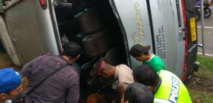 Kecelakaan di Tanjakan Emen Ciater./Foto: Istimewa