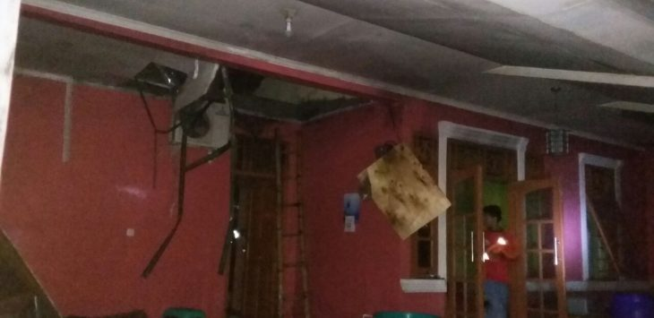 Satu rumah milik Bayu Aulia Yuanda di Perumahan Alam Tirta Blok K 1 Rt 03, Rw 15, Desa Pagelaran, Kecamatan Ciomas, Kabupaten Bogor  terbakar, Selasa (13/02/2018).