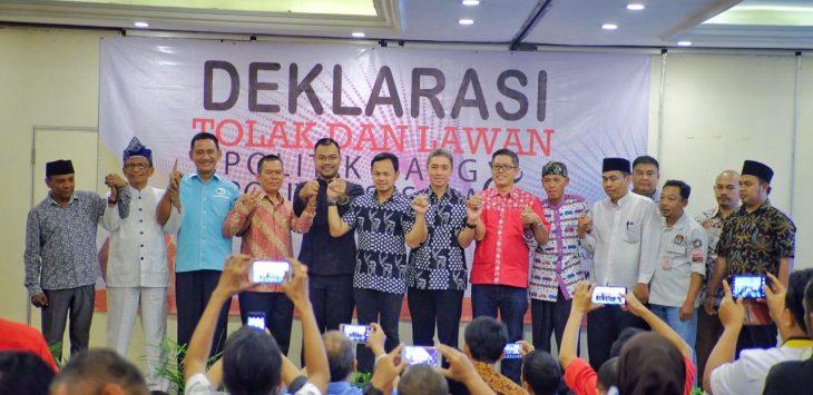 Pengawas Pemilu (Panwaslu) Kota Bogor menggelar Deklarasi damai yang bertemakan