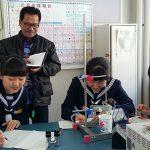 Rombongan Kepala Dinas Pendidikan Kota Bogor, Fahmi mengikuti aktifitas pelajar di sekolah Jepang./Foto: Istimewa