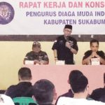 RAKER: Rapat kerja DPC Diaga Muda Indonesia Kabupaten Sukabumi di Gedung Aula Kelurahan Cibadak