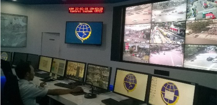 Ruang Account of Area Traffic Control System (ATCS) Dinas Perhubungan Kota Bandung (Siti Fatonah/ JawaPos.com)