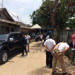 Polisi melakukan olah TKP di tempat penembakan di Cikarang Utara, Kabupaten Bekasi.Enriko/Pojokjabar