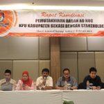 KPU Kabupaten Bekasi melakukan rapat koordinasi dengan stakeholder.FOTO : KPU Kabupaten Bekasi for Pojoksatu