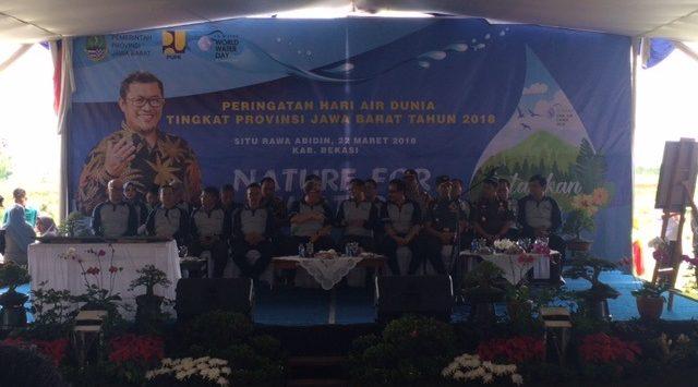 Acara Hari Air Dunia tingkat Provinsi Jawa Barat 2018 di Situ Abidin, Kecamatan Bojongmangu, Kabupaten Bekasi. Enriko/Pojokjabar