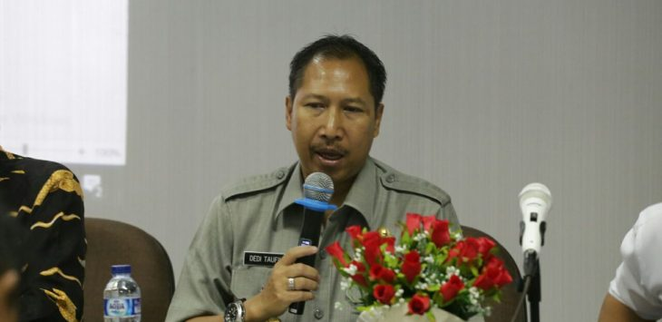 Dedi Taufikkurohman, Pjs Walikota Cirebon, saat rapat bersama Balai Besar Wilayah Sungai Cimanuk-Cisanggarung (BBWSC). Foto: Alwi/pojokjabar.com.