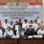Panwaslu Kabupaten Bogor  menemukan pasangan calon (Paslon) Bupati-Wakil Bupati Bogor berkampanye tidak sesuai jadwal yang telah ditentukan KPU Kabupaten Bogor.