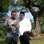 Ridwan Kamil dan Bima Arya bertemu di Kota Bogor, Jumat (16/3/2018).