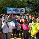 Cabup Bogor Ade Yasin berbaur bersama warga dalam Festival Pancakarsa, MInggu (18/3/2018)/Foto: Unang.