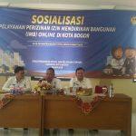 DPMPTSP Kota Bogor terus melakuakan sosialisasi terkait IMB berbasis online/Foto: Adiwirman.