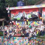 Ratusan mahasiswa penerima beasis LPDP lakukan proyek sosial di Katulampa/Foto: Unang.