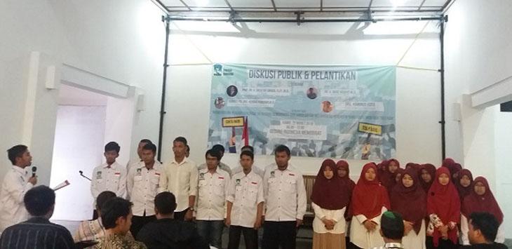 LANTIK: Sejumlah pengurus baru KAMMI Bandung Periode 2018-2020 dilantik./Foto: Rmol