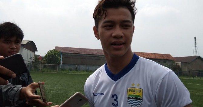Moch Al Amin Syukur Fisabillah, pemain anyar yang gabung latihan Persib Bandung (Siti Fatonah/JawaPos.com)