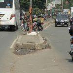 (Ilustrasi) Putaran ilegal di depan Pasar Induk Cibitung. (Dok. Radar Bekasi)